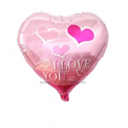 Balon Inima I LOVE YOU Pink