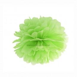 Floare Pom Pom Verde Deschis 25 cm