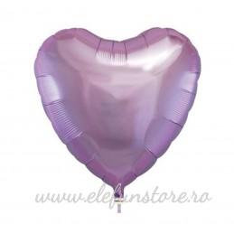 Balon Inima Lavanda Metalizata 45cm
