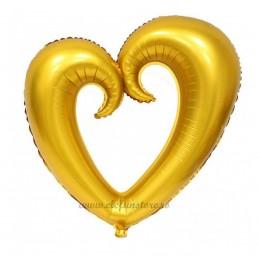 Balon Inima Shape Auriu Mat 80 cm