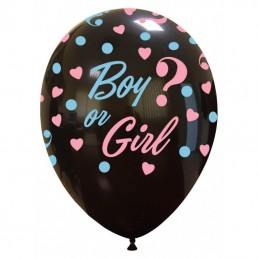 Set 10 baloane Girl or Boy ? Negre Gender Reveal