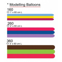 Set 100 Baloane Modelaj Maxi Asortate Standard