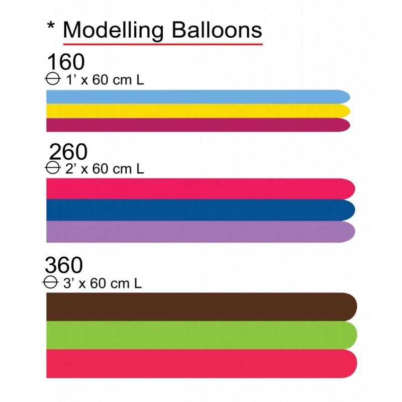 Set 100 Baloane Modelaj Medium Argintii