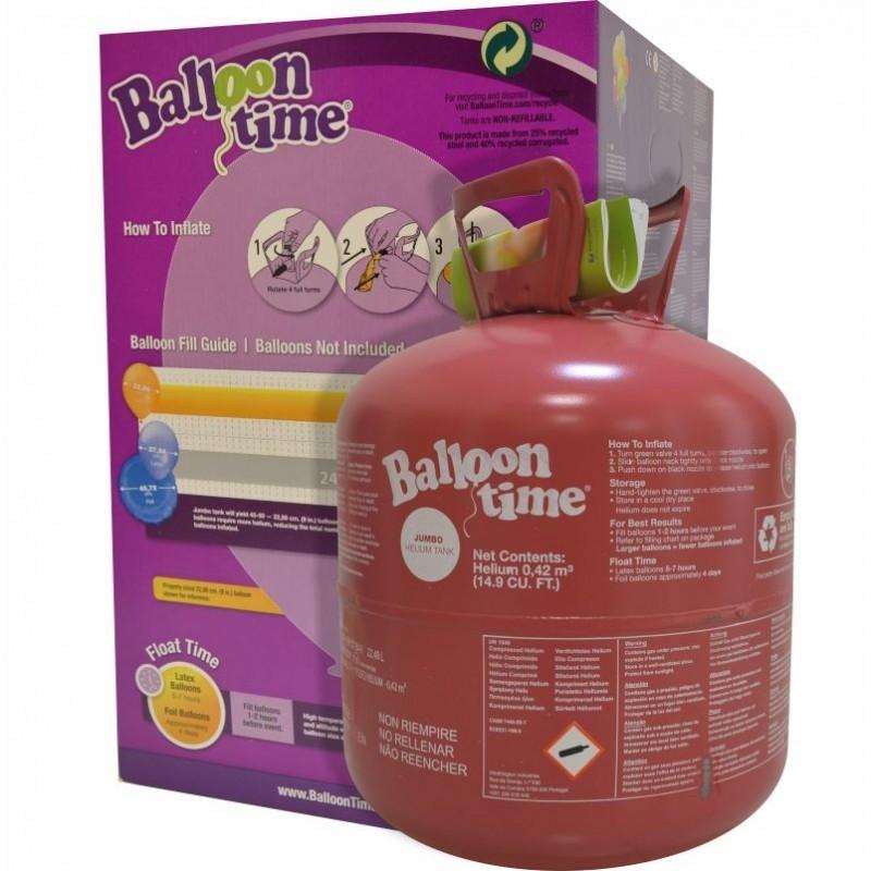 Butelie de heliu Balloon Time 0.42mc pentru baloane