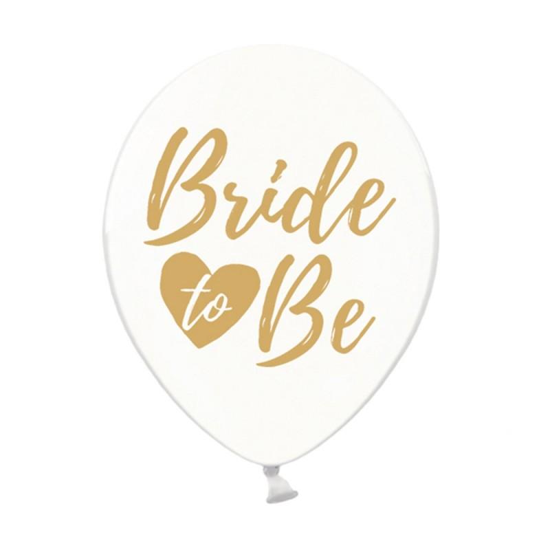 Set 5 baloane Bride To Be Transparent