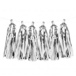 Ghirlanda 12 Tassels Argintii 2m