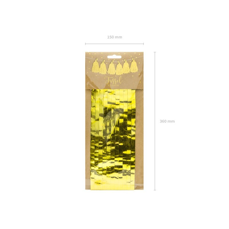 Ghirlanda 12 Tassels Aurii 2m