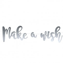 Banner Make a Wish Argintiu