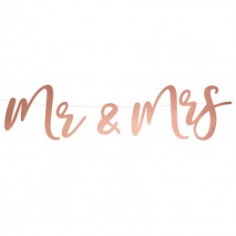 Banner Mr & Mrs Rose Gold
