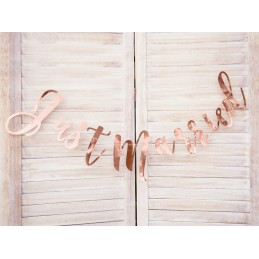Banner Just Married Rose Gold