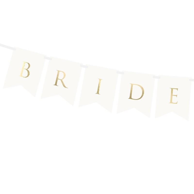 Banner Bride & Groom Auriu 1.55m