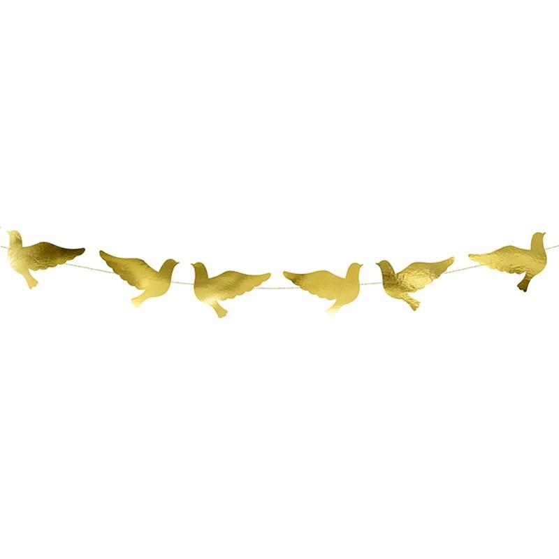 Ghirlanda Porumbei Aurii 86cm