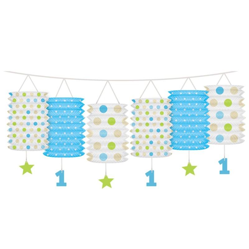 Ghirlanda Prima Aniversare Lampioane Bleu