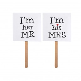 Set 2 Props-uri I'M HIS MRS / I'M HER MR