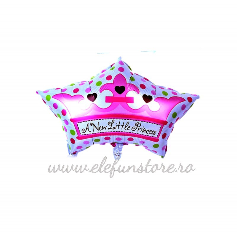 "Balon Mini Figurina Coroana ""A New Little Princess"""