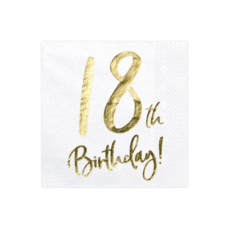 Set 20 servetele Majorat 18th Birthday