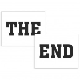 Set 2 Stickere Pantofi THE END