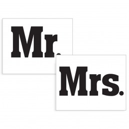 Set 2 Stickere Pantofi MR & MRS