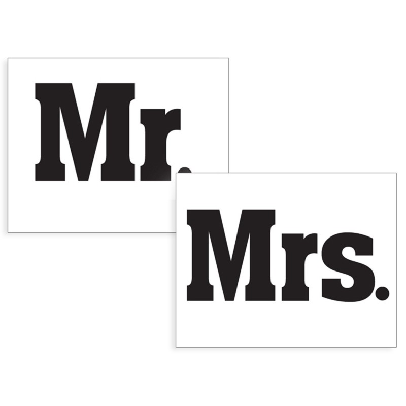 Set 2 Stickere Pantofi MR & MRS