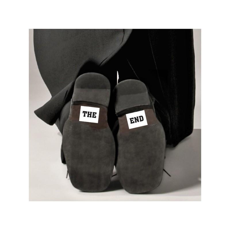 Set 2 Stickere Pantofi THE END