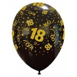 Set 10 baloane 18 pt Majorat Gold