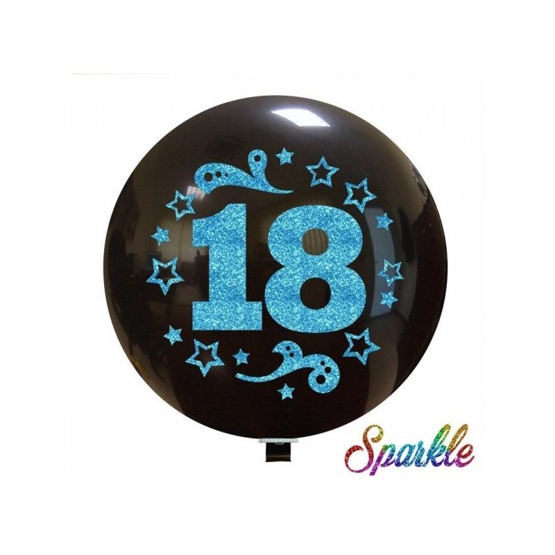 Balon Jumbo 18 cu sclipici albastru