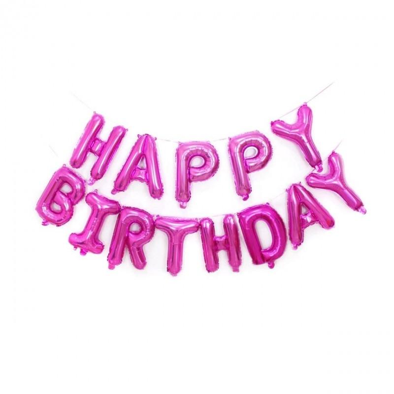 Set Litere Roz Happy Birthday