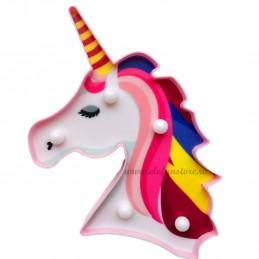 Decoratiune LED Unicorn Pink