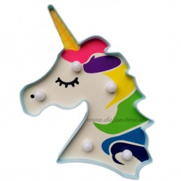 Decoratiune LED Unicorn Curcubeu