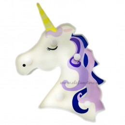 Decoratiune LED Unicorn Purple