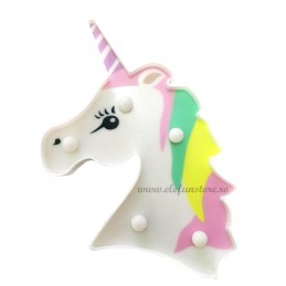 Decoratiune LED Unicorn Pastel