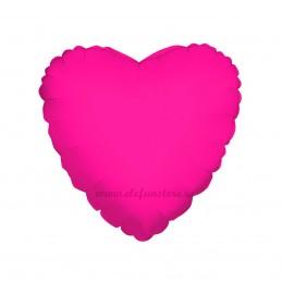 Balon Inima Magenta Metalizata 45cm