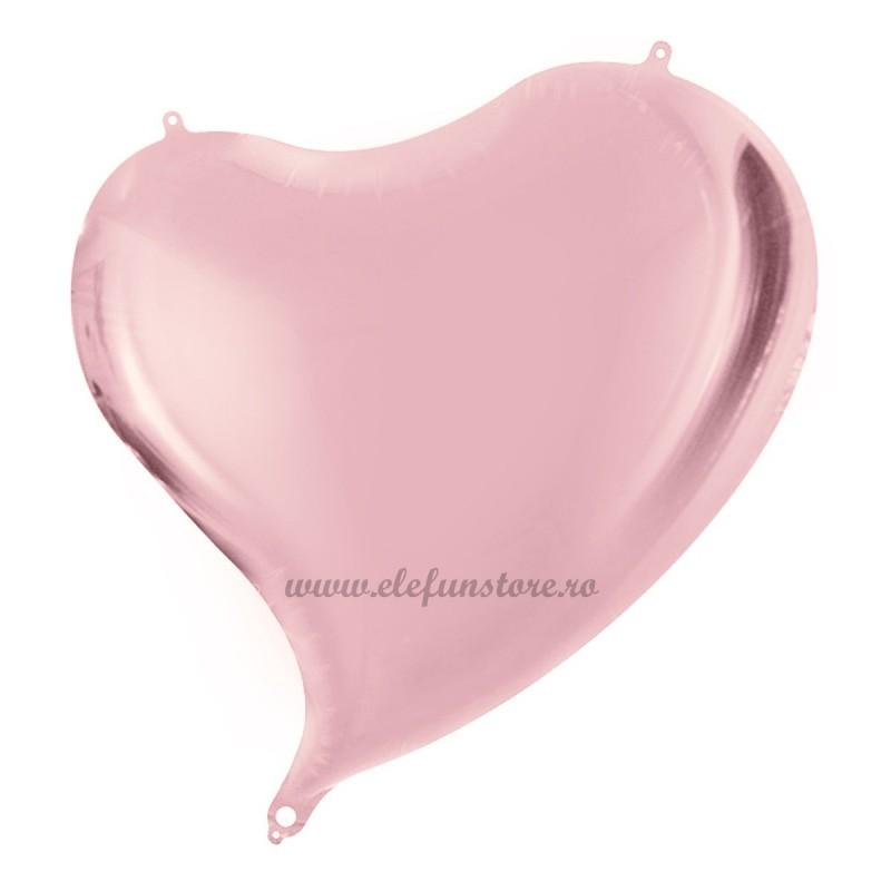 Balon Inima Curbata Rose Gold Metalizat