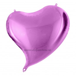 Balon Inima Curbata Lavanda Metalizat
