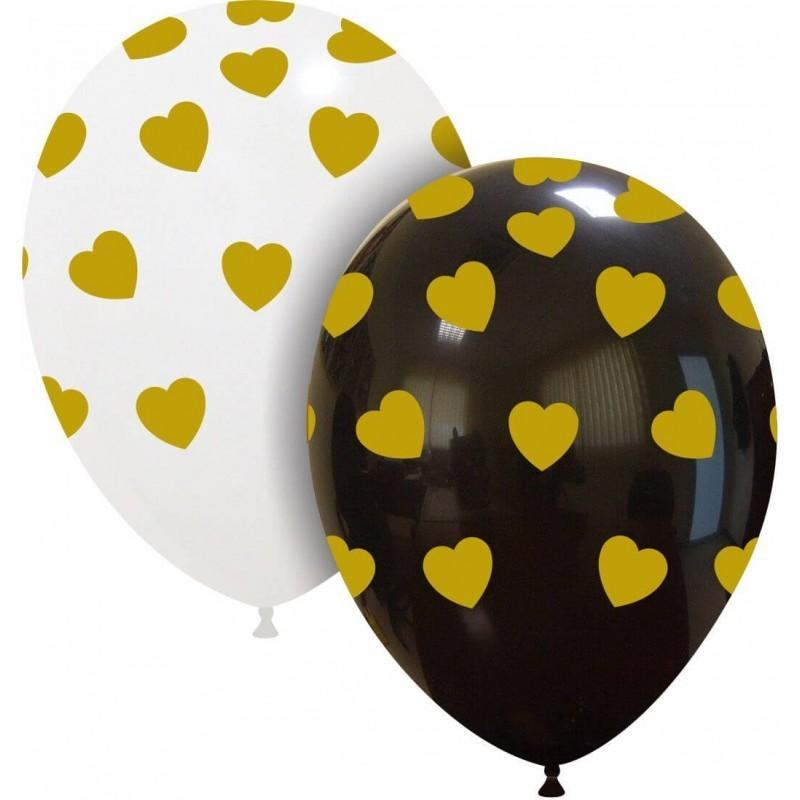Set 10 baloane Inimioare Gold