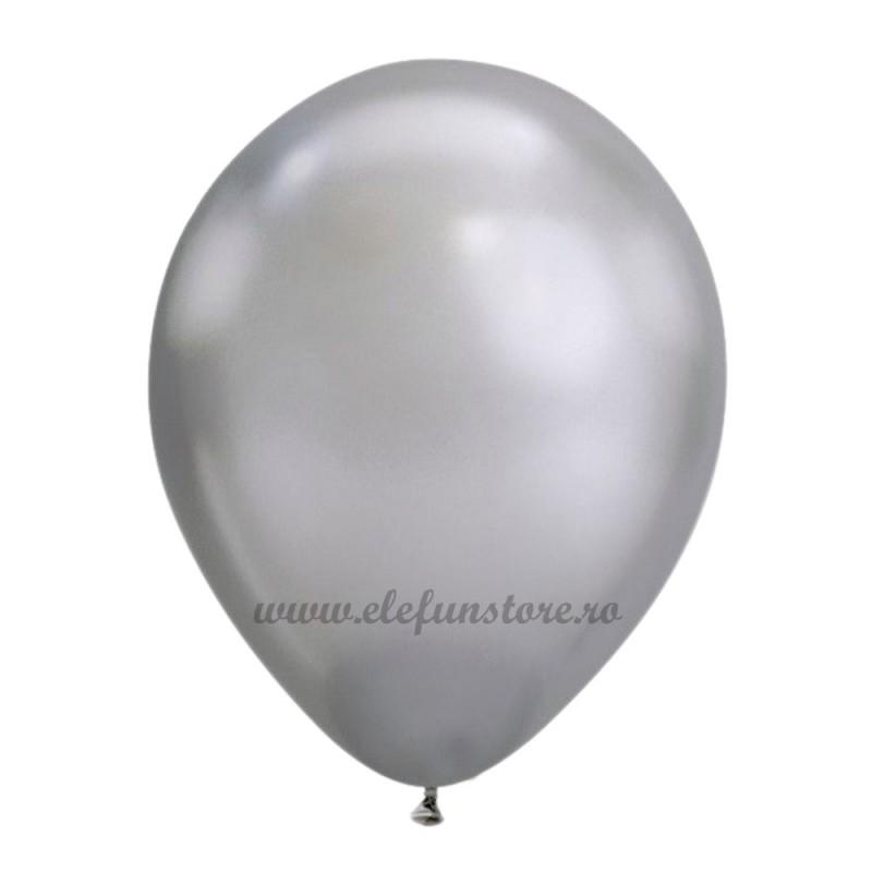 Set 10 Baloane Chrome Argintii Oglinda 30 cm