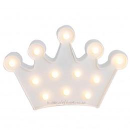 Decoratiune LED Coroana Alba