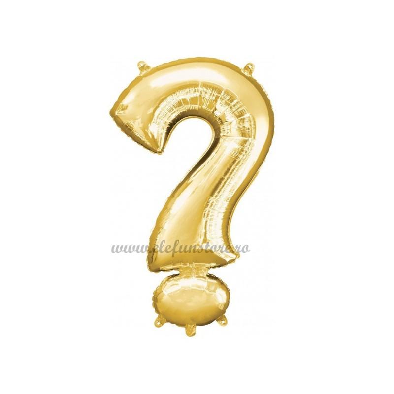 Balon Semnul Intrebarii Auriu 40 cm