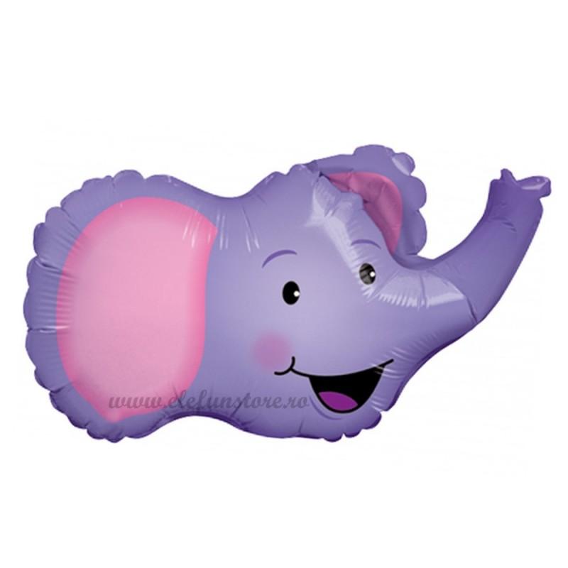 Balon Mini Figurina Elefant Mov