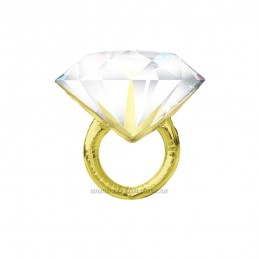 Balon Mini Figurina Inel Auriu cu Diamant