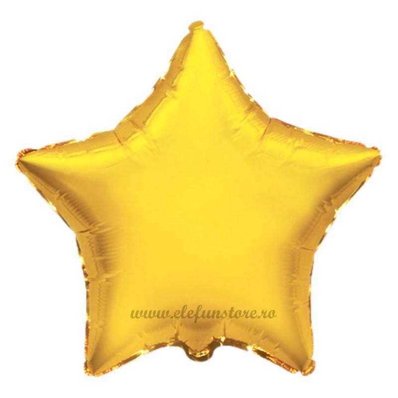 Balon Stea 60 cm Auriu Metalizat