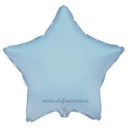 Balon Stea 60 cm Bleu Metalizat