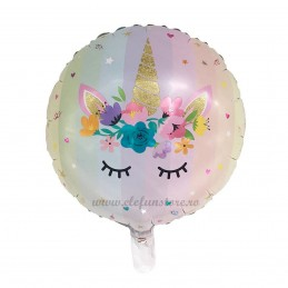 Balon Unicorn Face Pastel