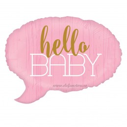 Balon Hello Baby Text Bubble Roz
