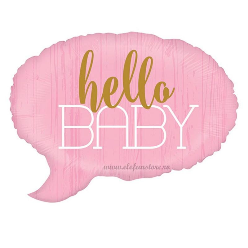 Balon Hello Baby Text Bubble Roz