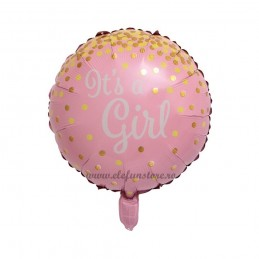 Balon It's a girl roz cu confetti