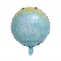 Balon It's a boy bleu cu confetti