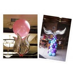 Balon S Curbat 100 cm Argintiu Metalizat
