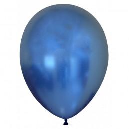 Set 10 Baloane Chrome Albastru Oglinda 30 cm
