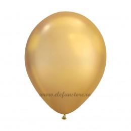 Set 10 Baloane Chrome Auriu Oglinda 30 cm